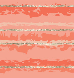 gold foil lines seamless pattern pink women vector image