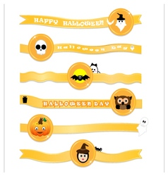 Halloween ribbon on white background vector image