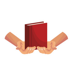 hands holding bible vector image