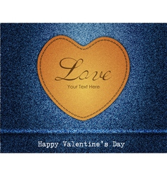 Happy Valentine Day Jeans Background vector image