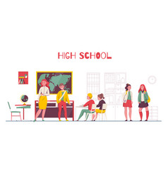 High school classroom vector