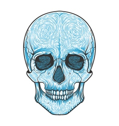 Human skull tribal styleTattoo blackwork hand vector image
