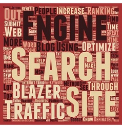 Increase Sales Traffic through Traffic Blazer text vector image