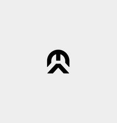 Ma am letter monogram logo design vector