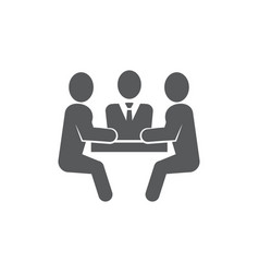 meeting icon on white background vector image