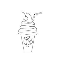milkshake drink cocktail vector image
