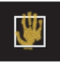 modern hand gold glitter poster vector image