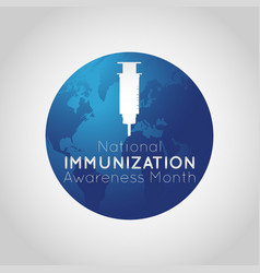 National immunization awareness month logo icon vector