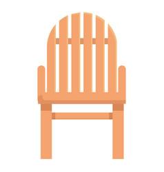 Outdoor chair icon cartoon wooden vector