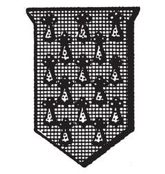 Pean shield fur is a shield or escutcheon vector
