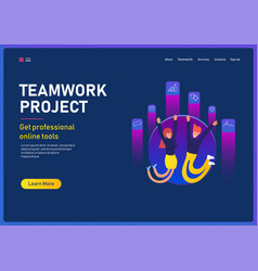 project teamwork concept business people vector image