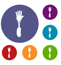 Prosthesis hand icons set vector