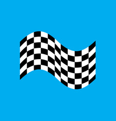 racing flag isolated finish banner vector image