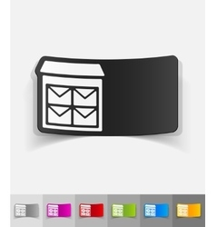 Realistic design element letter-box vector