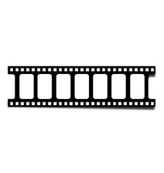 realistic filmstrip with shadow vector image