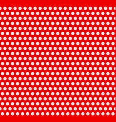 red and white duotone dotted polka dot background vector image