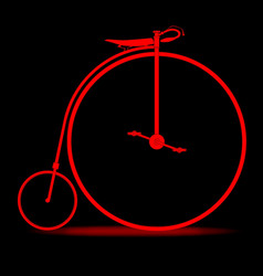 red penny farthing vector image