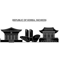 Republic of korea incheon architecture vector