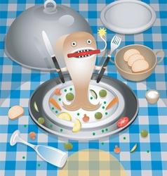 Restaurant character vector