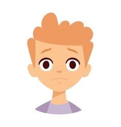 Sadness boy vector image