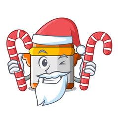 Santa with candy electric pressure cooker isolated vector