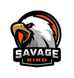 Savage bird eagle sports logo vector