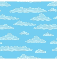 Seamless background with clouds vector