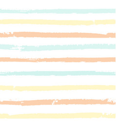 Seamless pattern with pastel color painted stripes vector