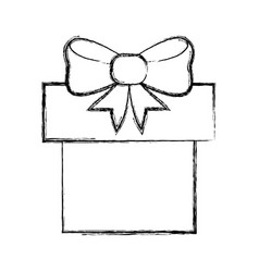 shopping gift box vector image