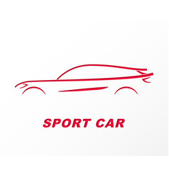 Silhouette of a sports car carved on paper vector