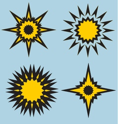 stars and sun signs vector image