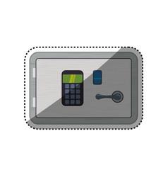 Strongbox safe padlock fingerprint vector