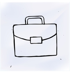 Suitcase doodle drawing sketch vector