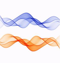 Waved design element wave set flow eps10 vector