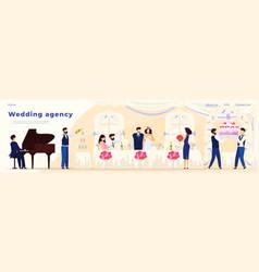 wedding banquet in restaurant catering agency vector image