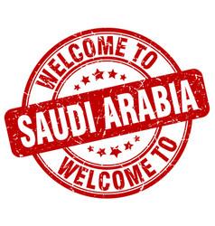 Welcome to saudi arabia vector