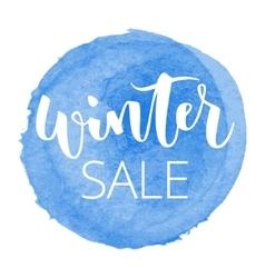 Winter sale hand written inscription vector