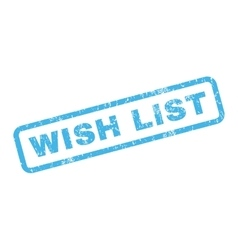 Wish List Rubber Stamp vector