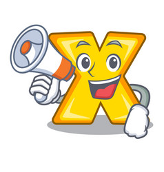 With megaphone character cartoon multiply sign for vector