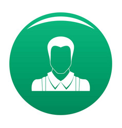 Worker avatar icon green vector