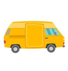 yellow van cartoon vector image