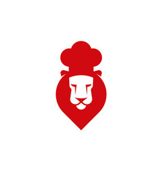 chef cook lion head icon vector image vector image