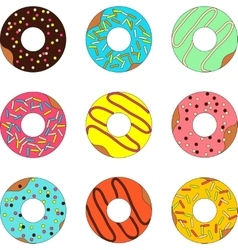 Donut isolated on a white background vector image