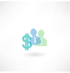 man and dollar icon vector image vector image