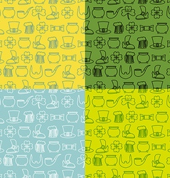 Patricks Day seamless pattern Set of backgrounds vector image vector image