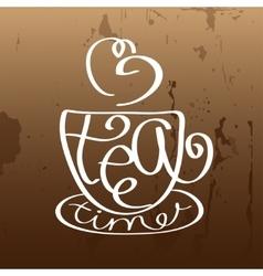 Tea time design template vector image