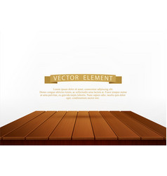 wooden table isolated on white background element vector image