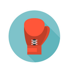 boxing glove icon flat design vector image
