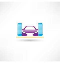 Car refueling vector image