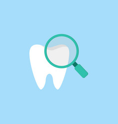 checking teeth flat icon vector image